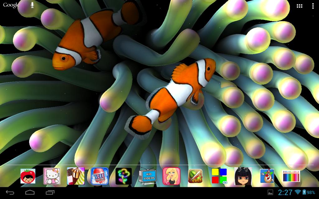 Awesome 3D Aquarium Live Wallpaper Asus Eee Pad Transformer TF101 1024x640