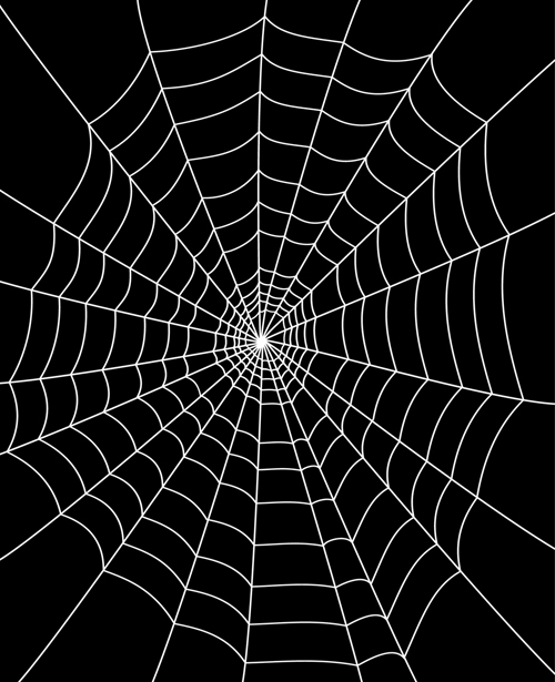 Set of Spider web vector background 02   Vector Background 500x615