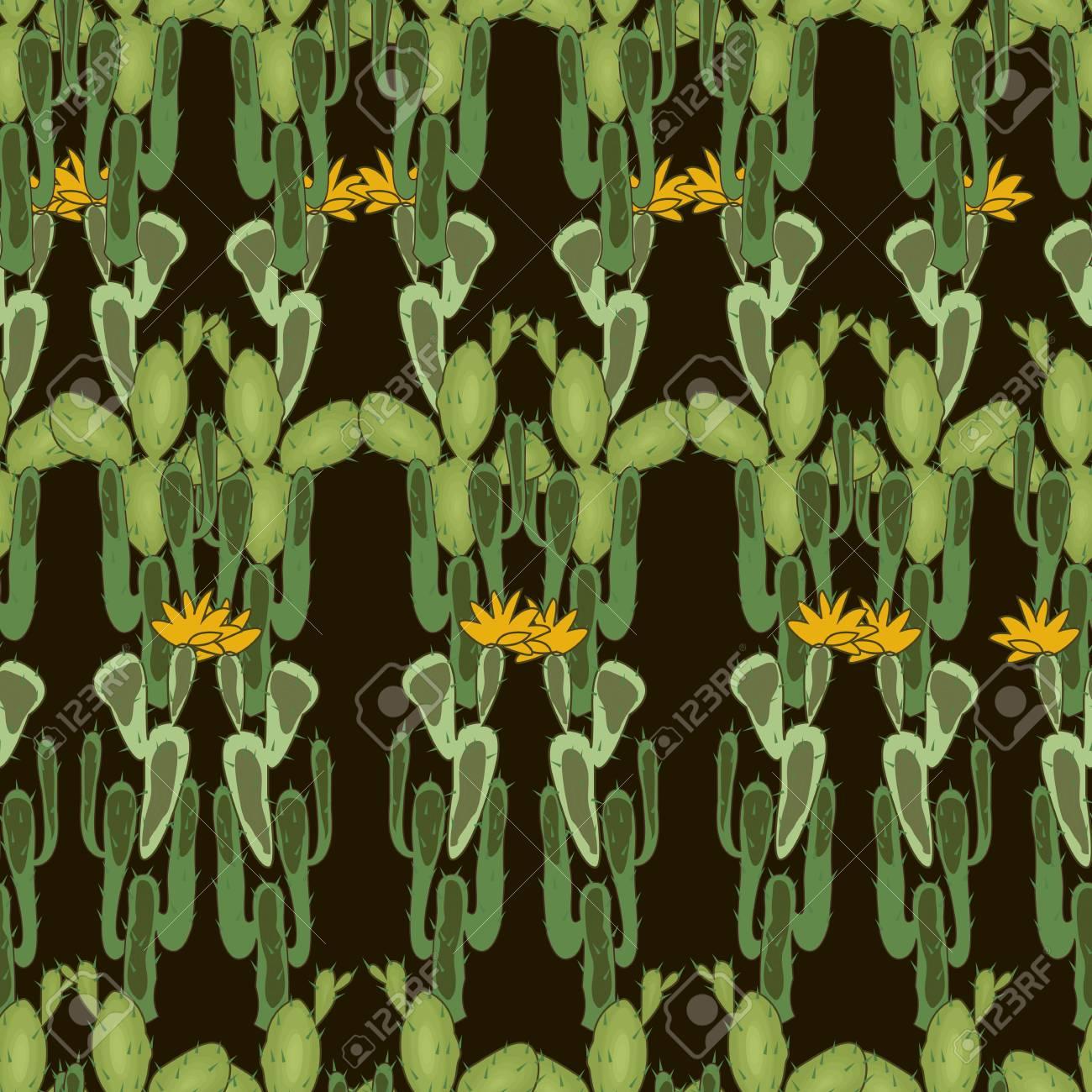Wild West Seamless Background Cactus Peyote Buffalo Skull 1300x1300