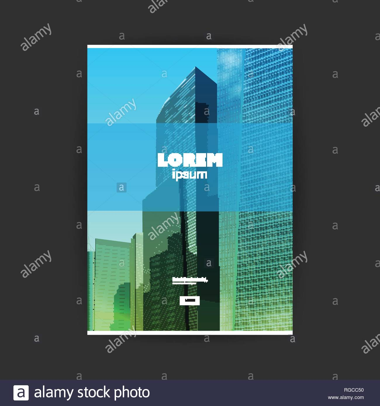 Flyer or Cover Design for Your Business   Skyscrapers Background 1300x1390