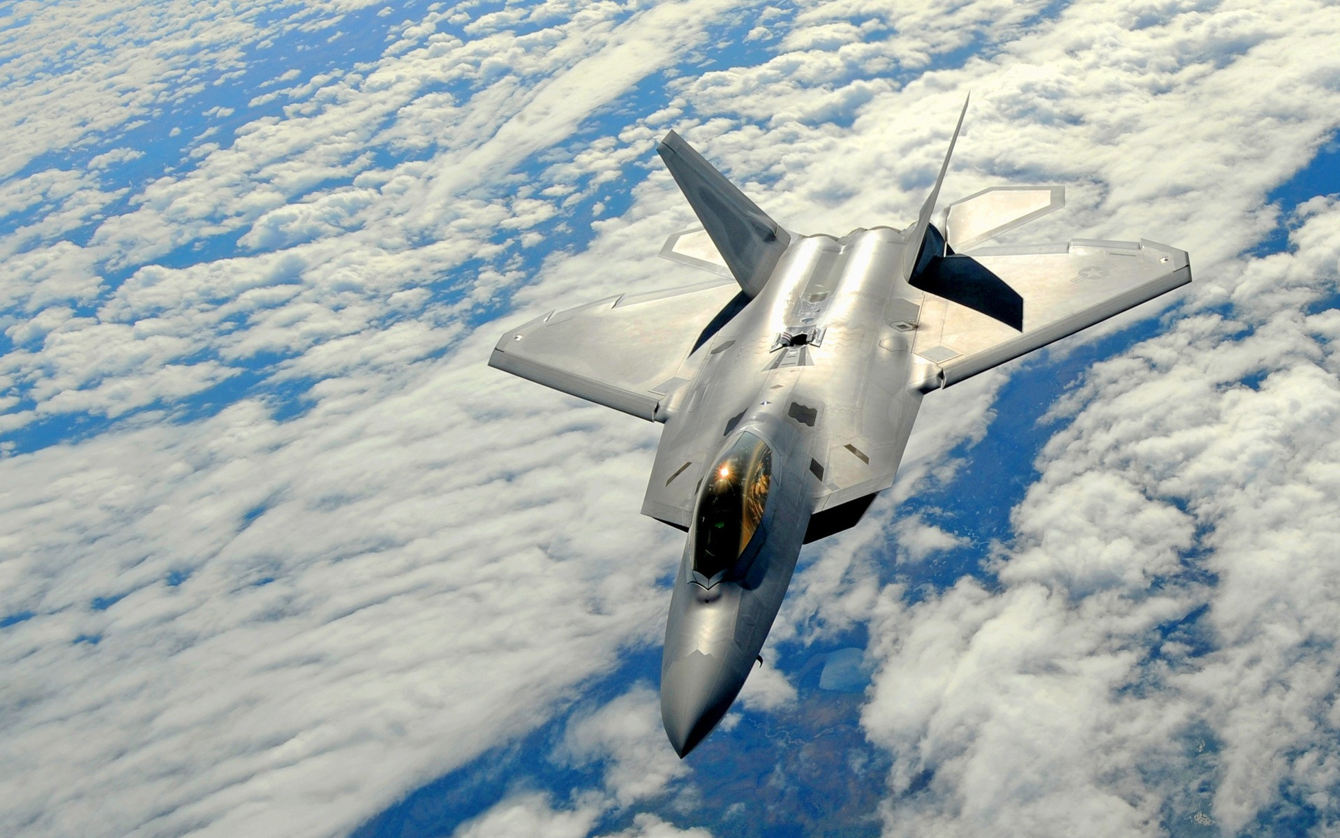 Download Wallpaper American military aircraft F22 Raptor wallpapers 1920x1200