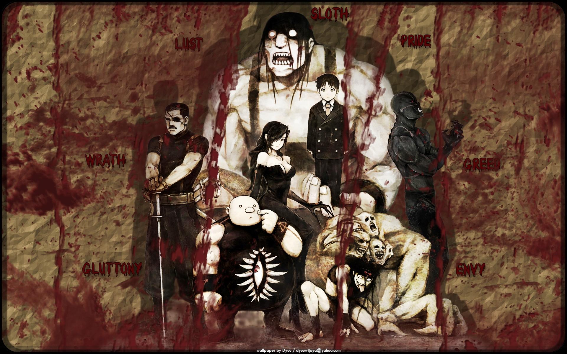 fullmetal alchemist seven deadly sins lust fma gluttony envy wrath 1920x1200