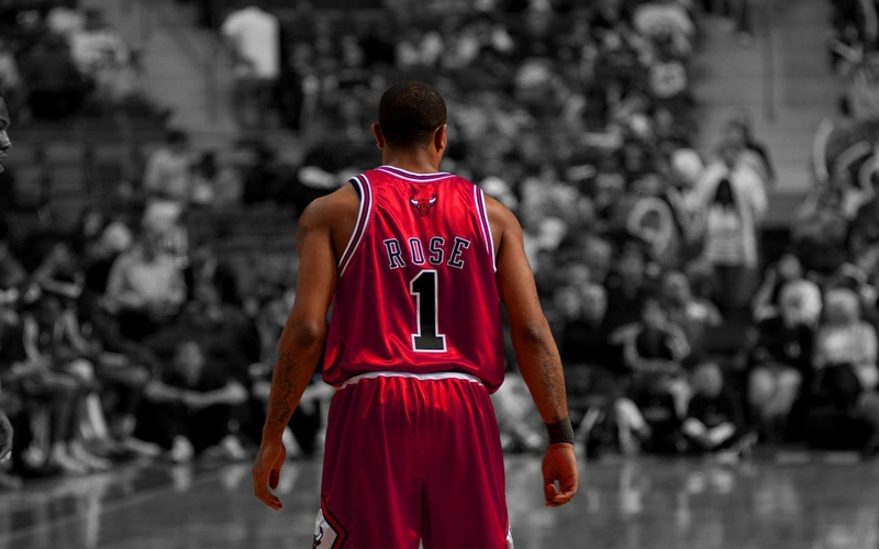 derrick rose chicago bulls 1440x900 wallpaper Basketball Wallpaper 800x500