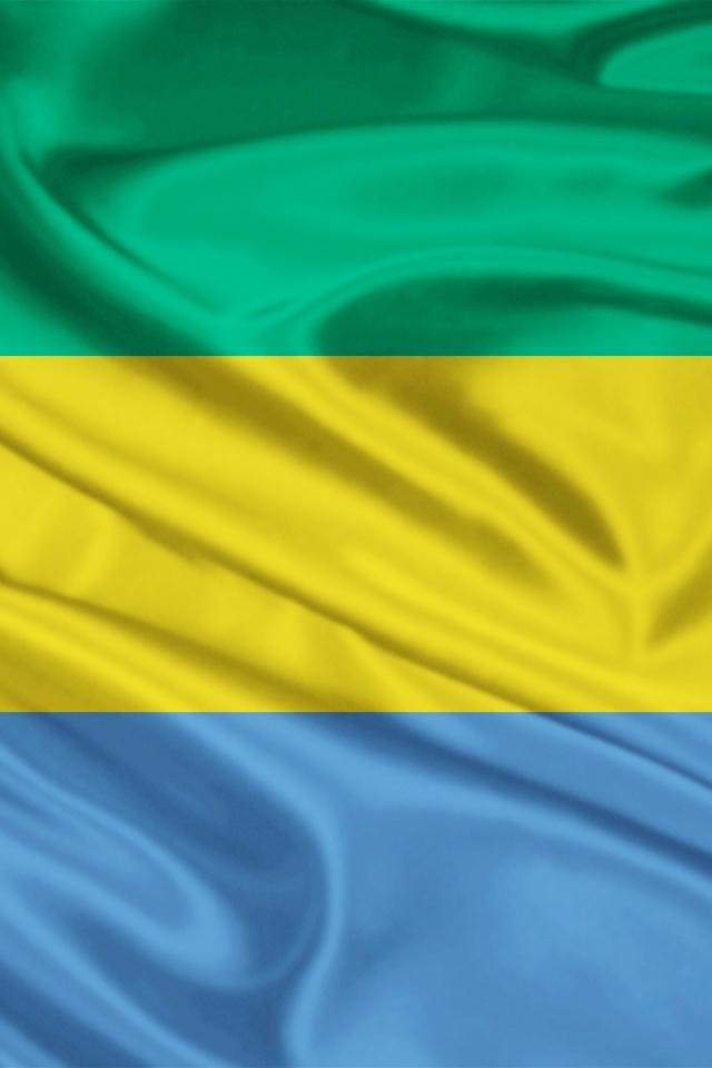640x960 Gabon Flag Iphone 4 wallpaper 640x960