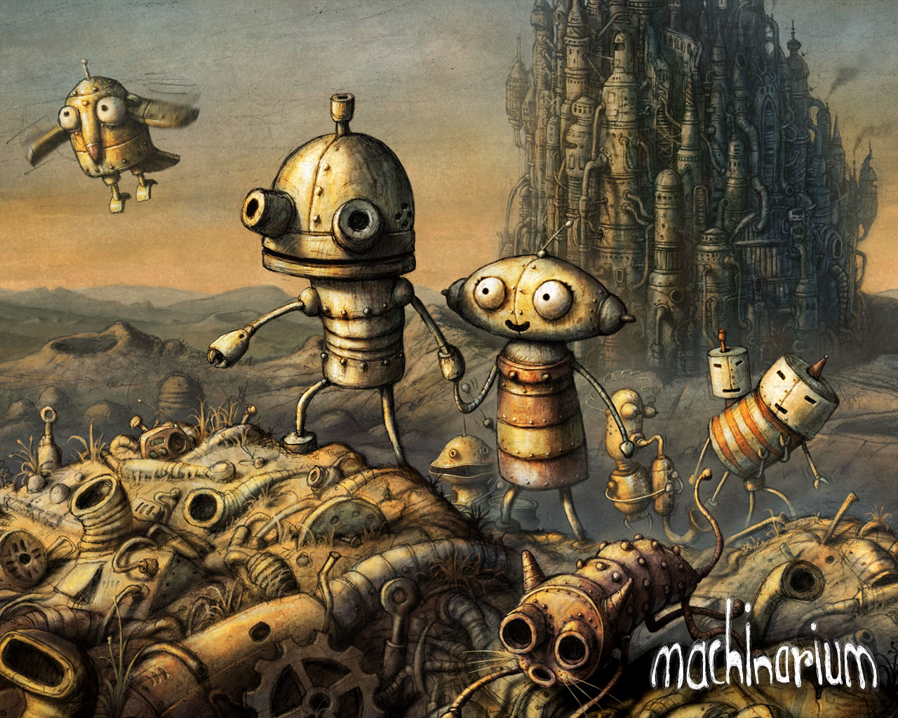 present time top 5 pc indie game wallpapers no5 machinarium wallpaper 1280x1024