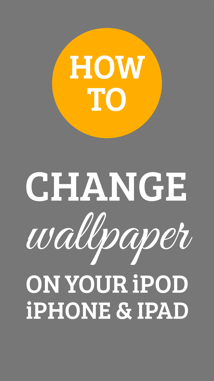 How to Change the Wallpaper on your iPhone iPod and iPad 845x1500