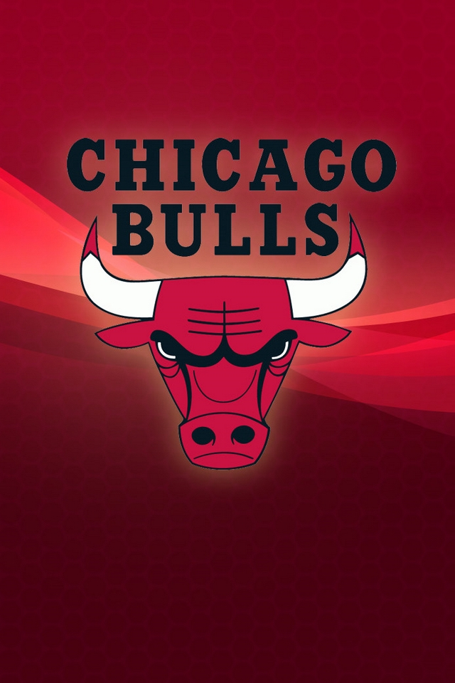 Chicago Bulls logo   Download iPhoneiPod TouchAndroid Wallpapers 640x960