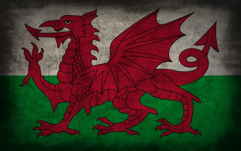 Wales Flag Wallpaper 1024x640