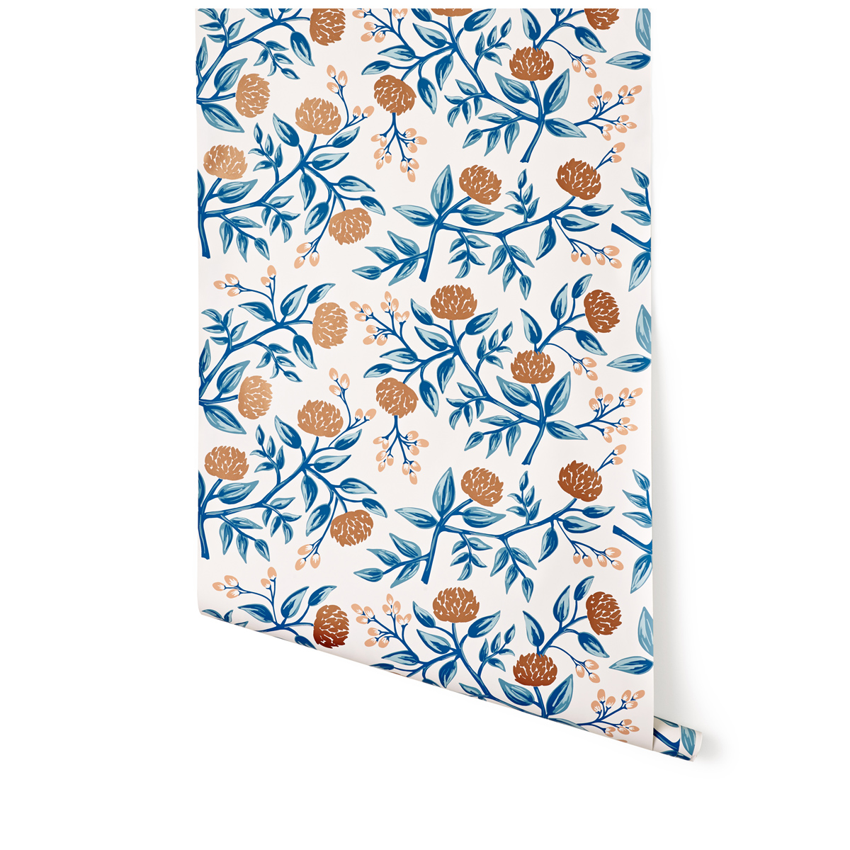 Peonies Copper Wallpaper Roll Hygge and West Rifle Paper Co 1200x1200