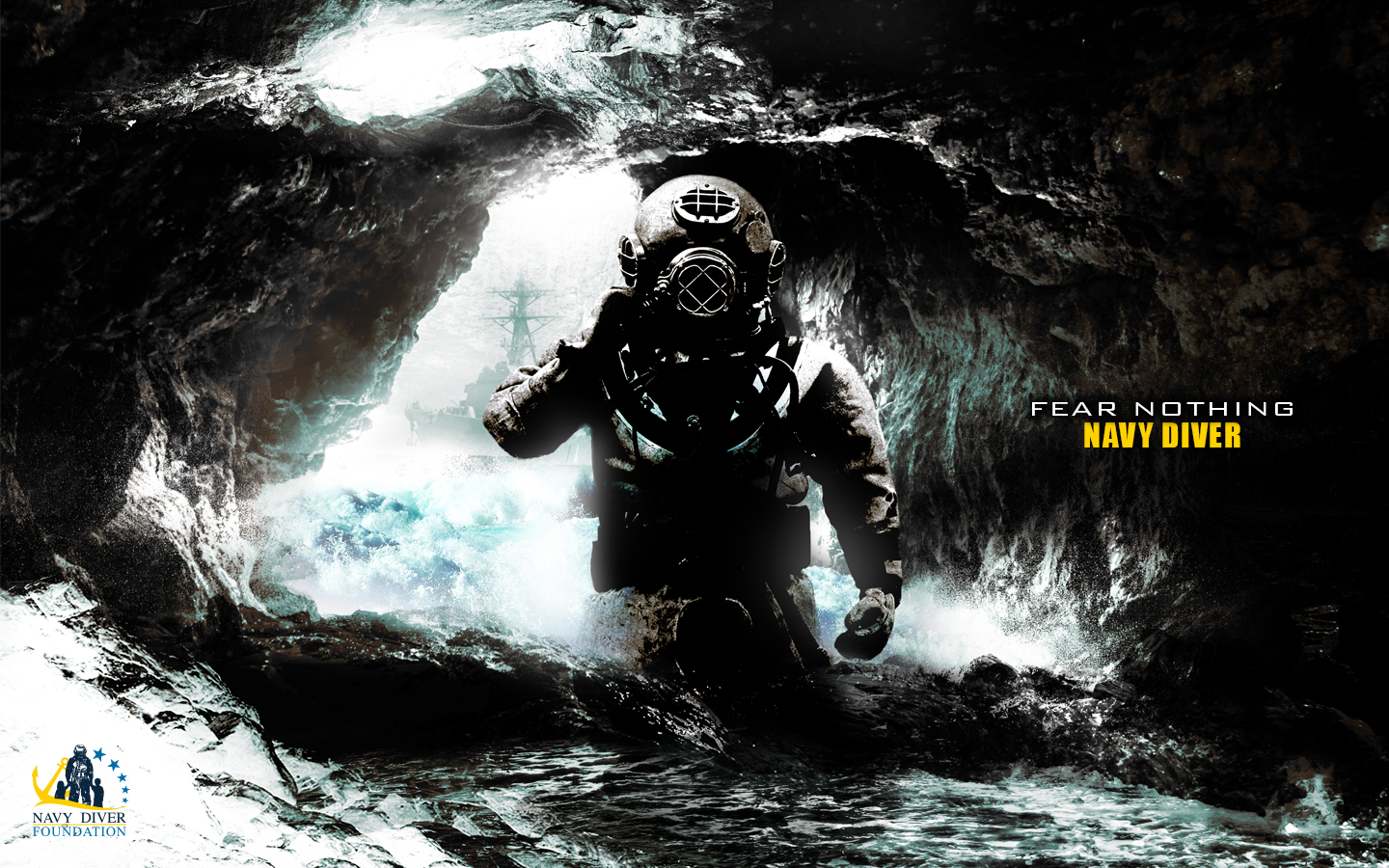 navy diver wallpaper