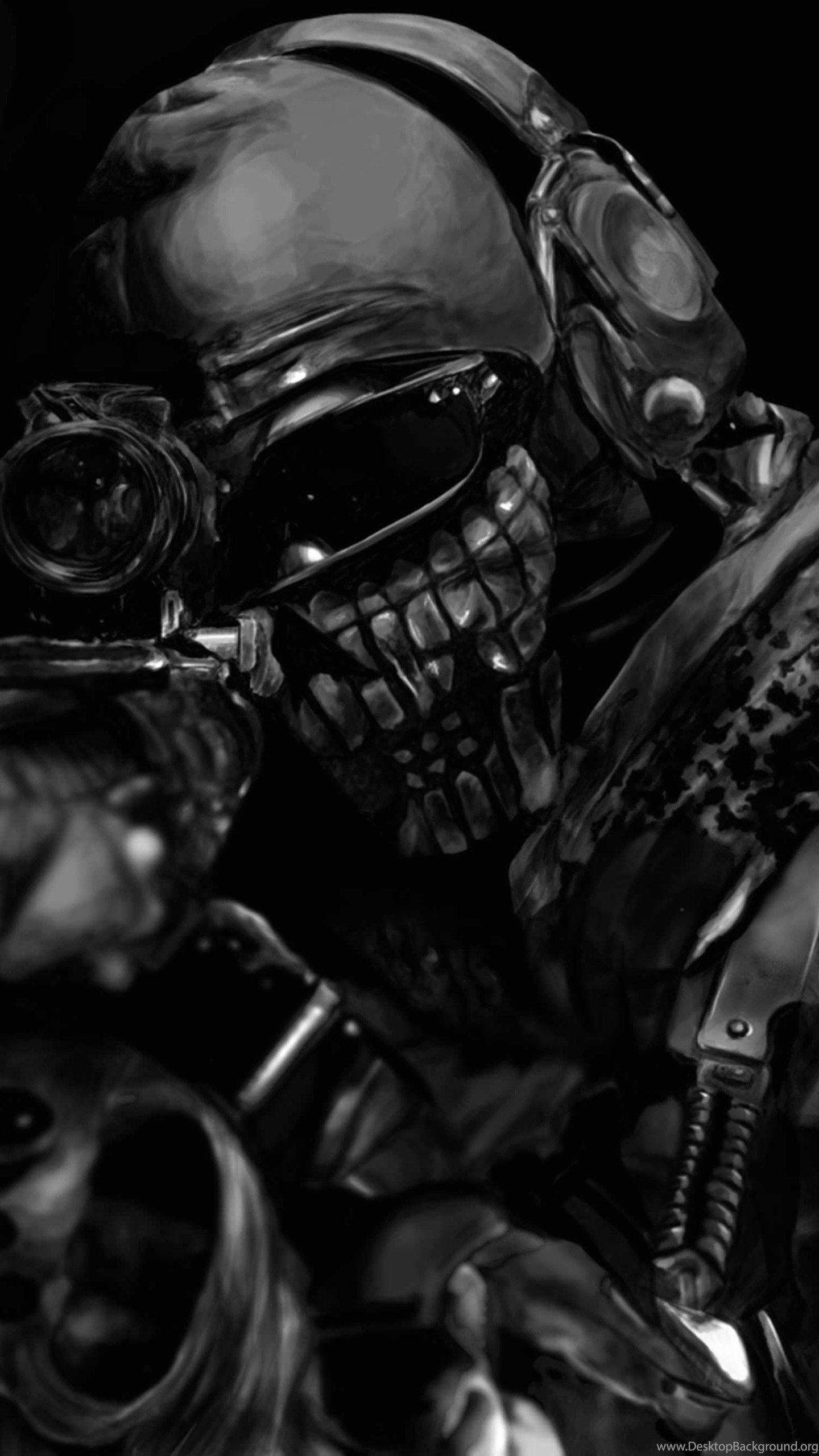 Download Call Of Duty Ghost Masked Warrior HD Wallpapers For 1440x2560