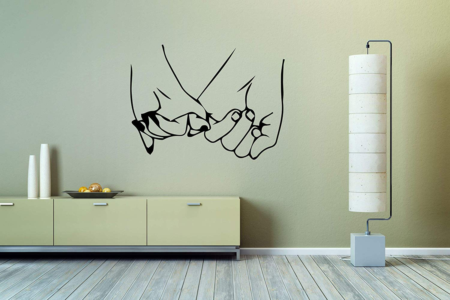 Amazoncom Vinyl Sticker Holding Hands Man Girl Woman Mural Decal 1500x1000