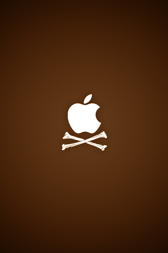 iPhone iBlog Pirate Apple Logo iPhone 4 Wallpapers 640x960