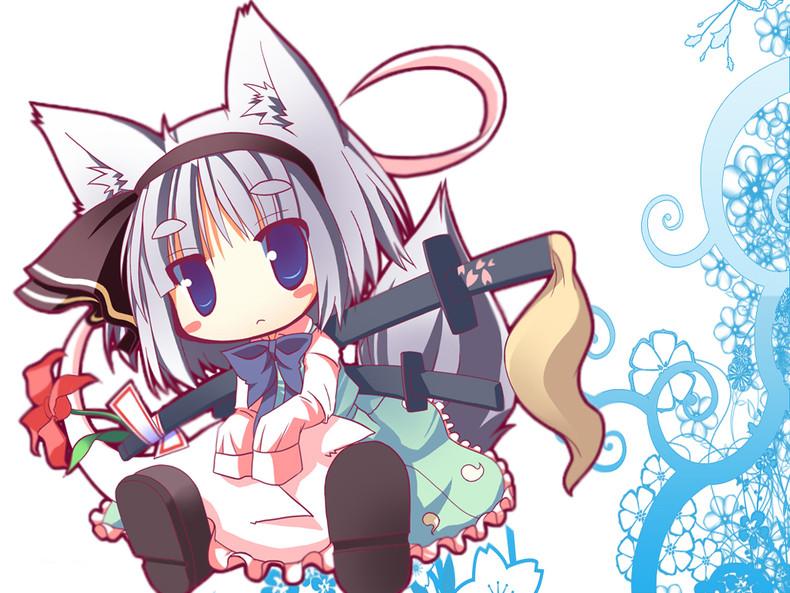 Home Gallery Anime Girls Wallpapers Chibi neko 790x593