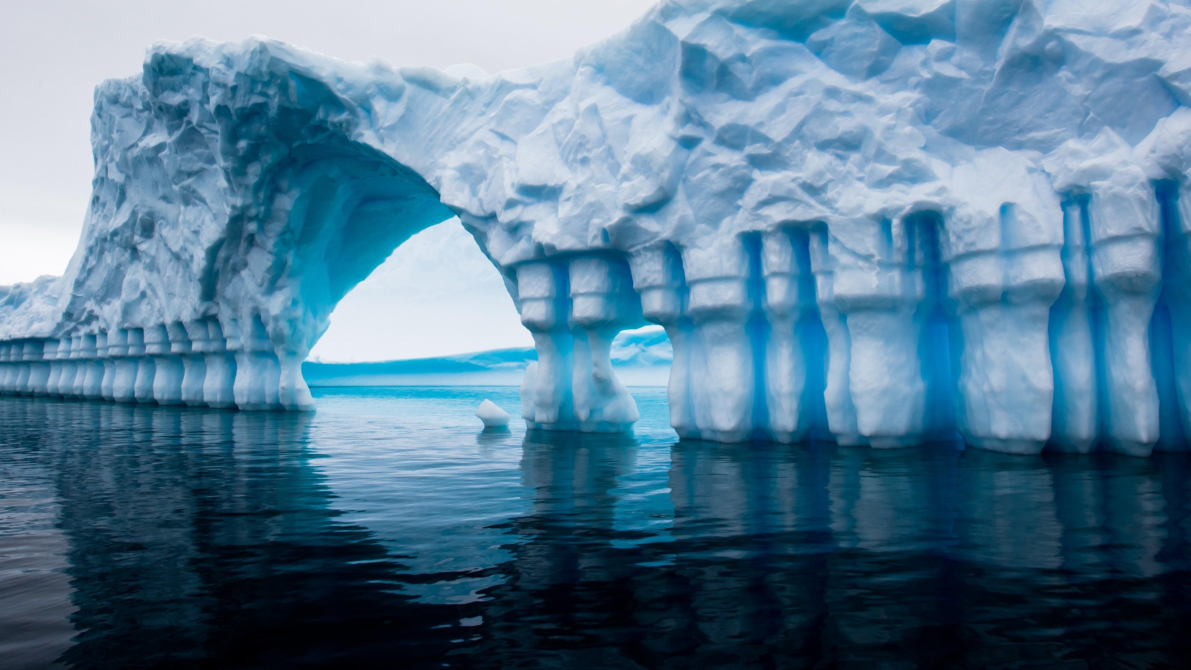 Wallpaper Antarctica 5k 4k wallpaper iceberg blue water 3840x2160