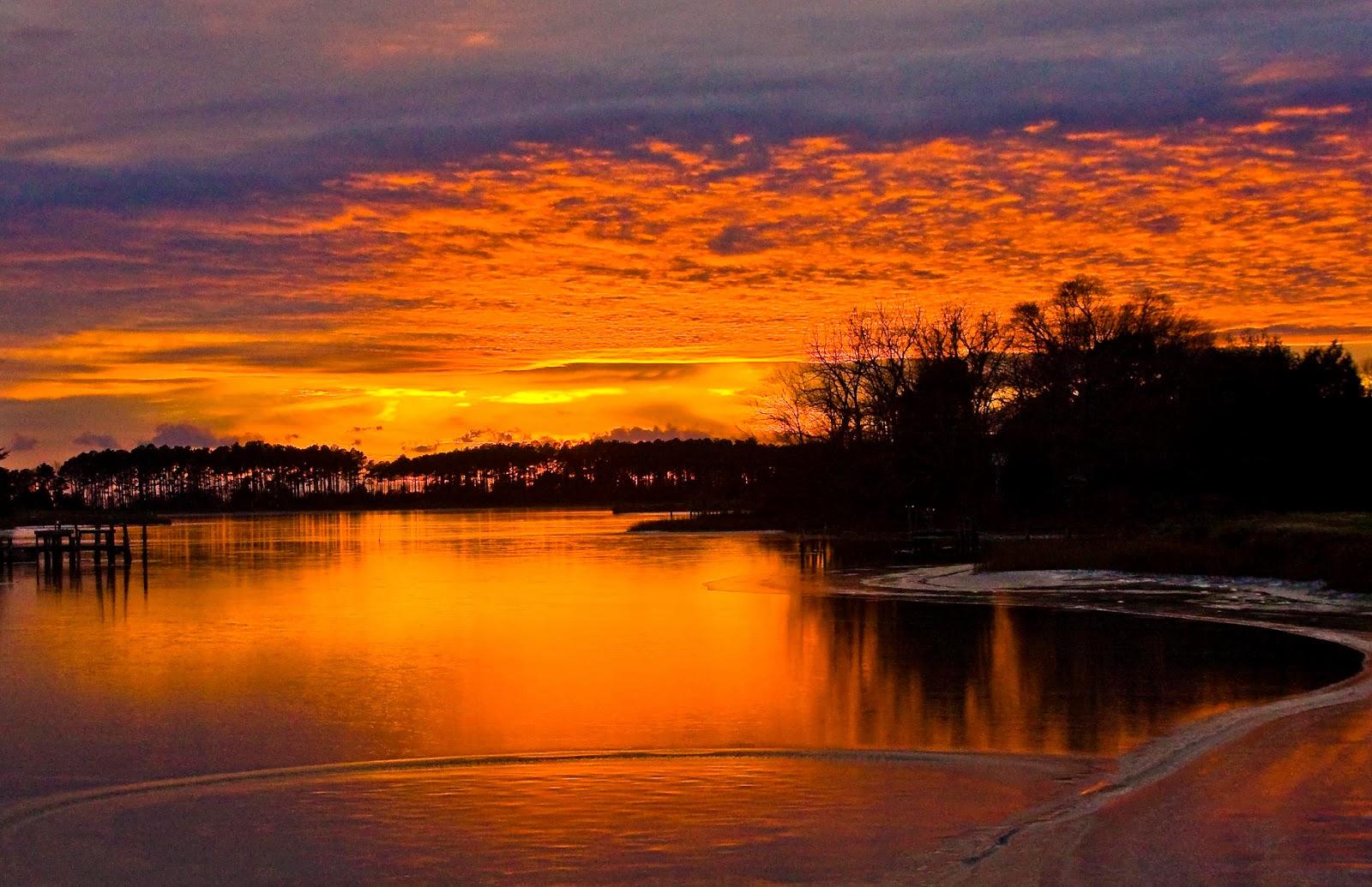 Winter Sunset HD Wallpaper - WallpaperSafari