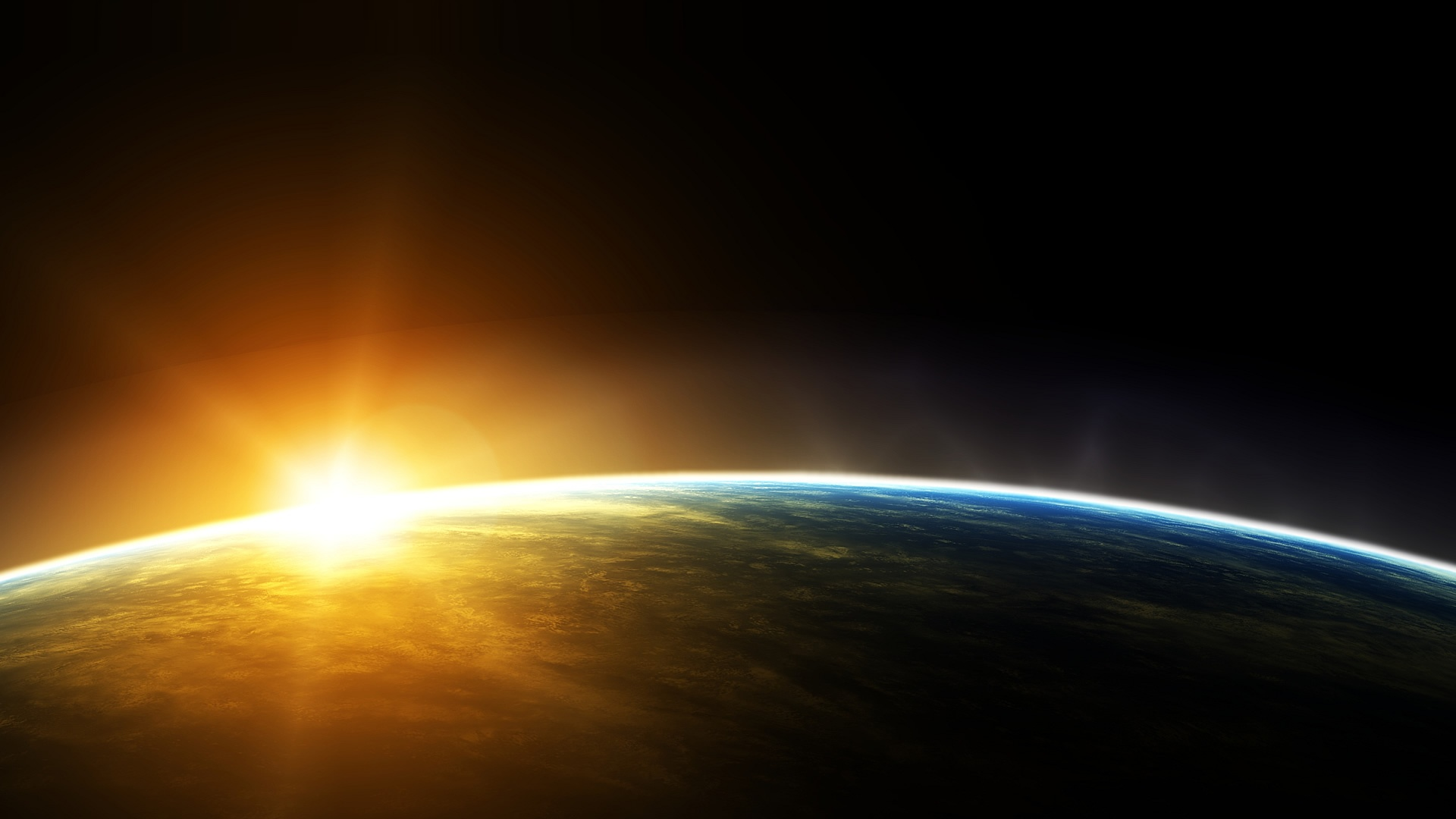 Sunrise From Space HD Wallpaper FullHDWpp   Full HD Wallpapers 1920x1080