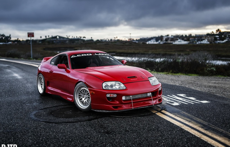 Wallpaper turbo red supra japan toyota jdm tuning power 1332x850