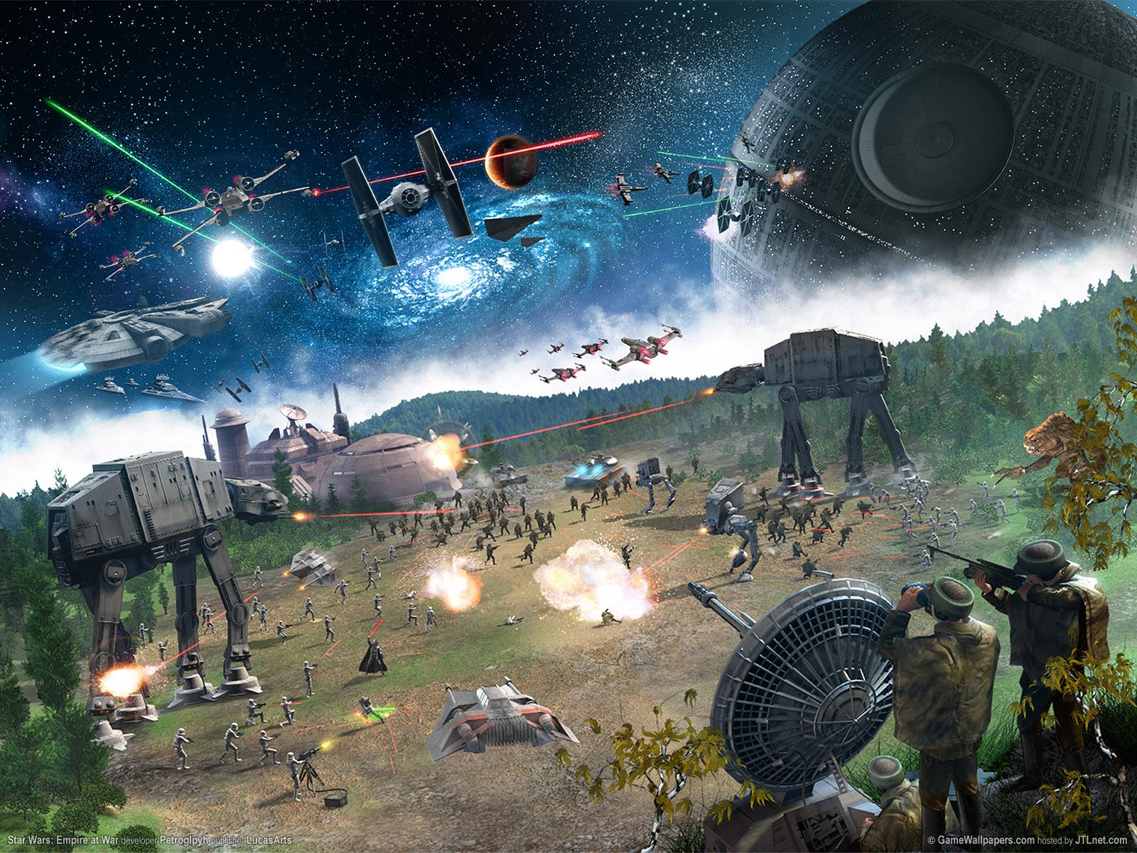 Star Wars Battle Scene Wallpaper and Background Image 1600x1200 1600x1200