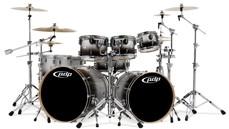 PDP Kits   Pacific Drums and Percussion Platinum Series   Titanium 800x451