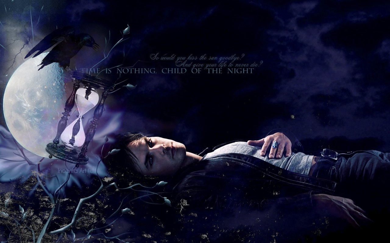 Damon Salvatore   The Vampire Diaries Wallpaper 8415158 1280x800