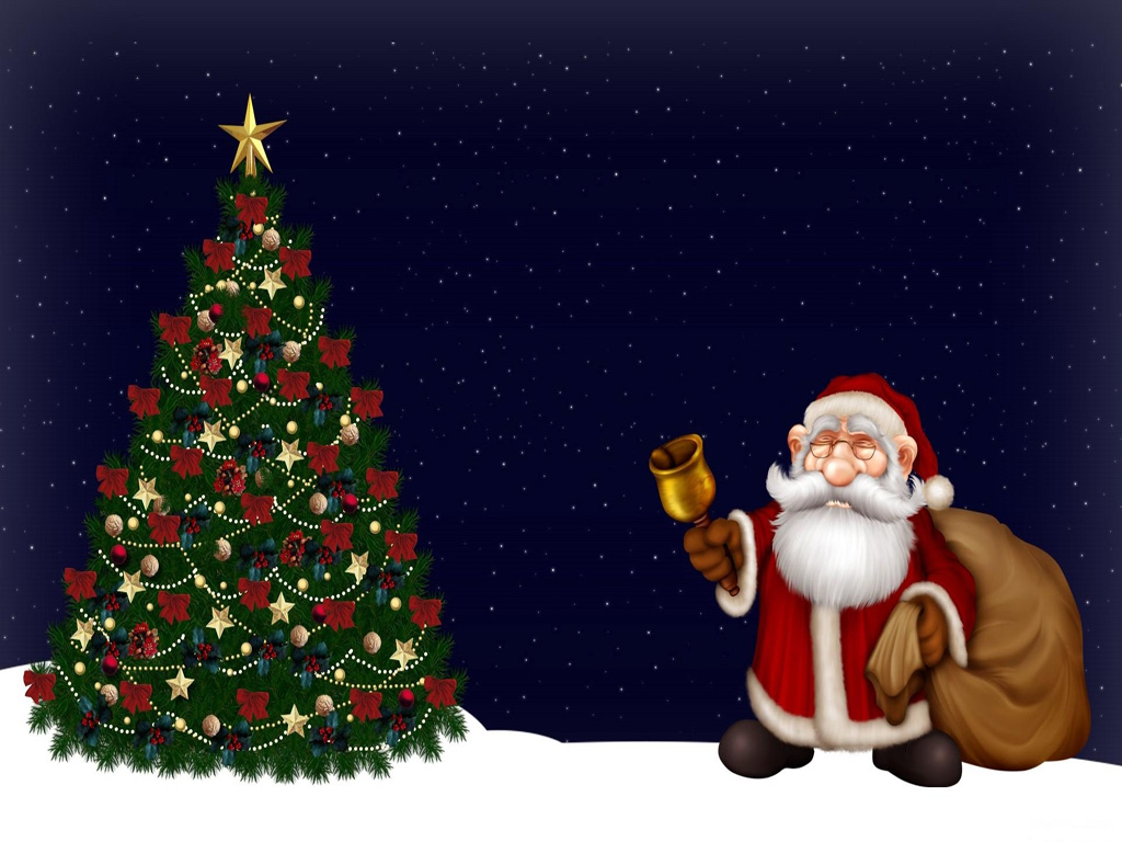 Free Download Merry Christmas Santa Claus Hd Wallpapers For