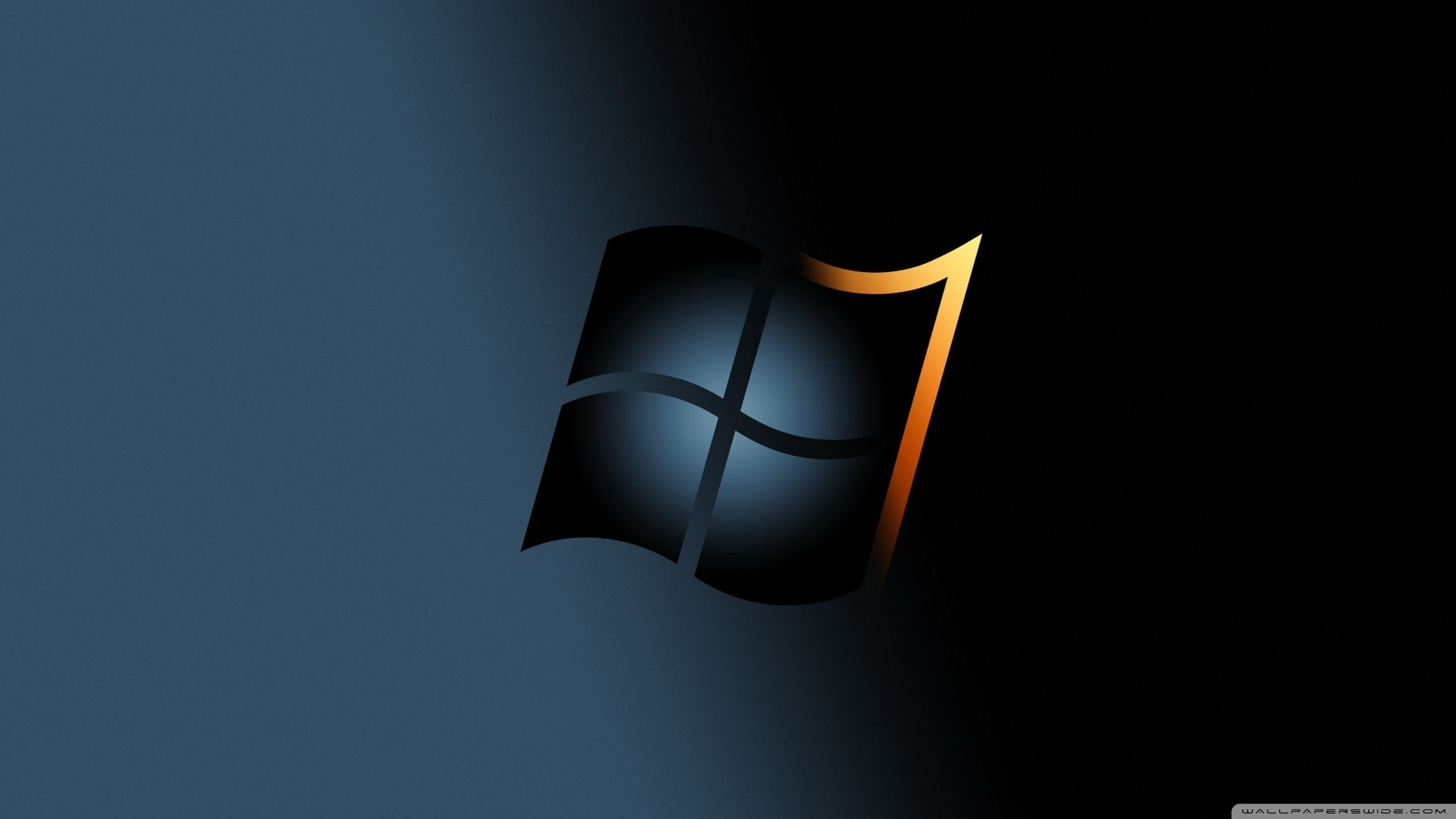 Windows 7 Dark 4K HD Desktop Wallpaper for 4K Ultra HD TV 2560x1440