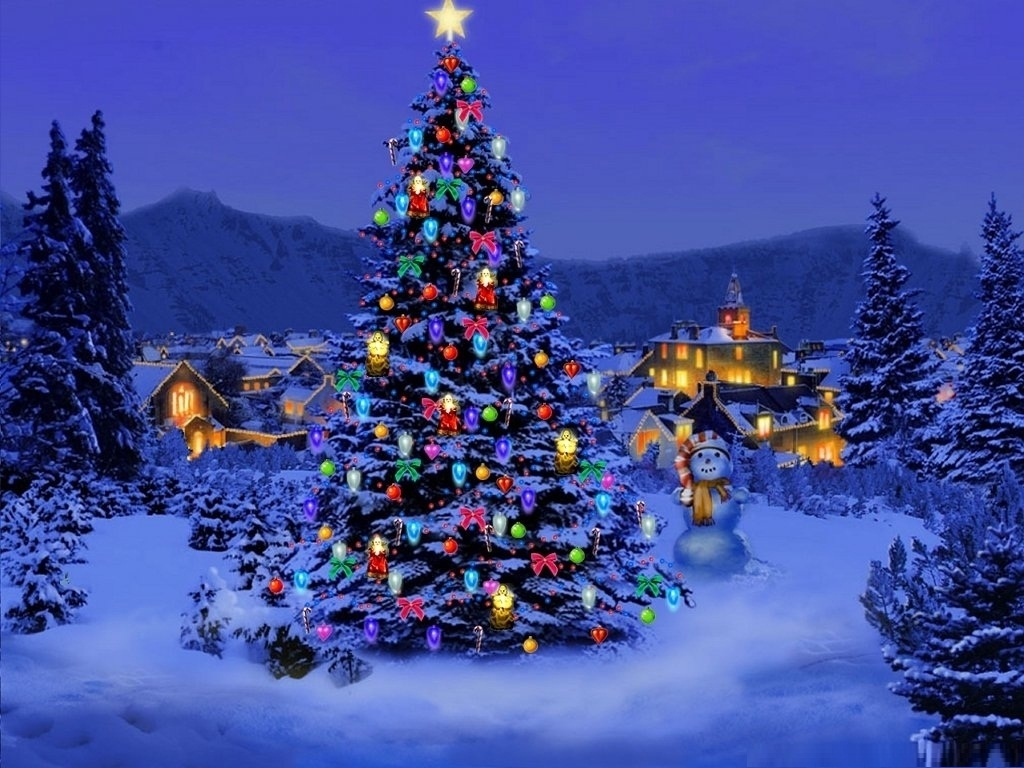 3d Christmas Tree Wallpapers 3d Christmas Tree Backgrounds 1024x768