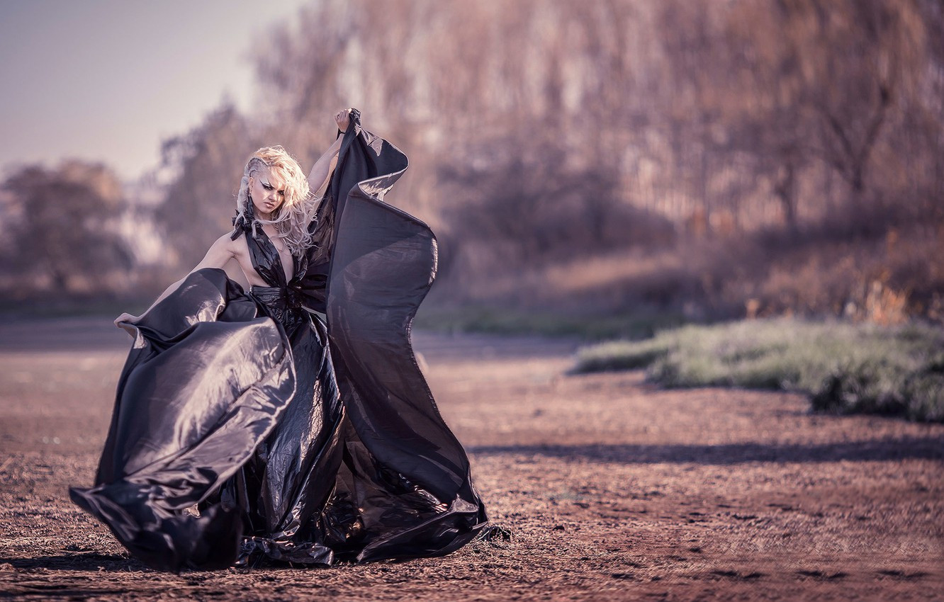 Wallpaper girl dress film The dress of garbage bags images for 1332x850