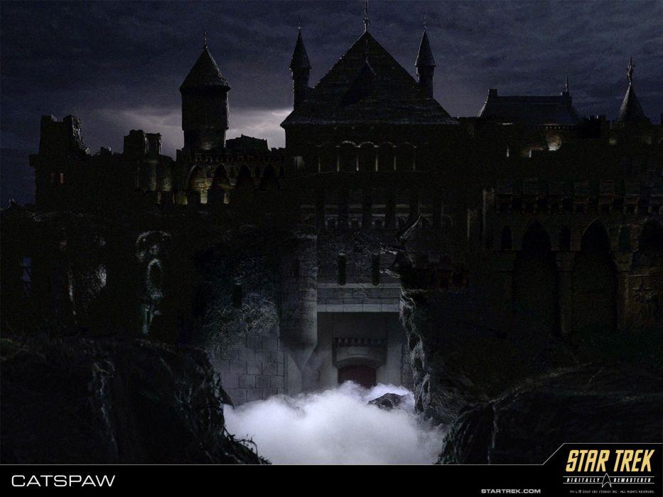 STAR TREK sci fi action adventure television poster dark haunted 933x700