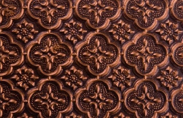 Backsplash Roll   PVC   1 14 Pattern   Antique Copper   Wallpaper 640x414