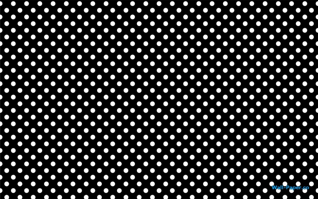 Black And White Polka Dots Background White-dots-on-black-background