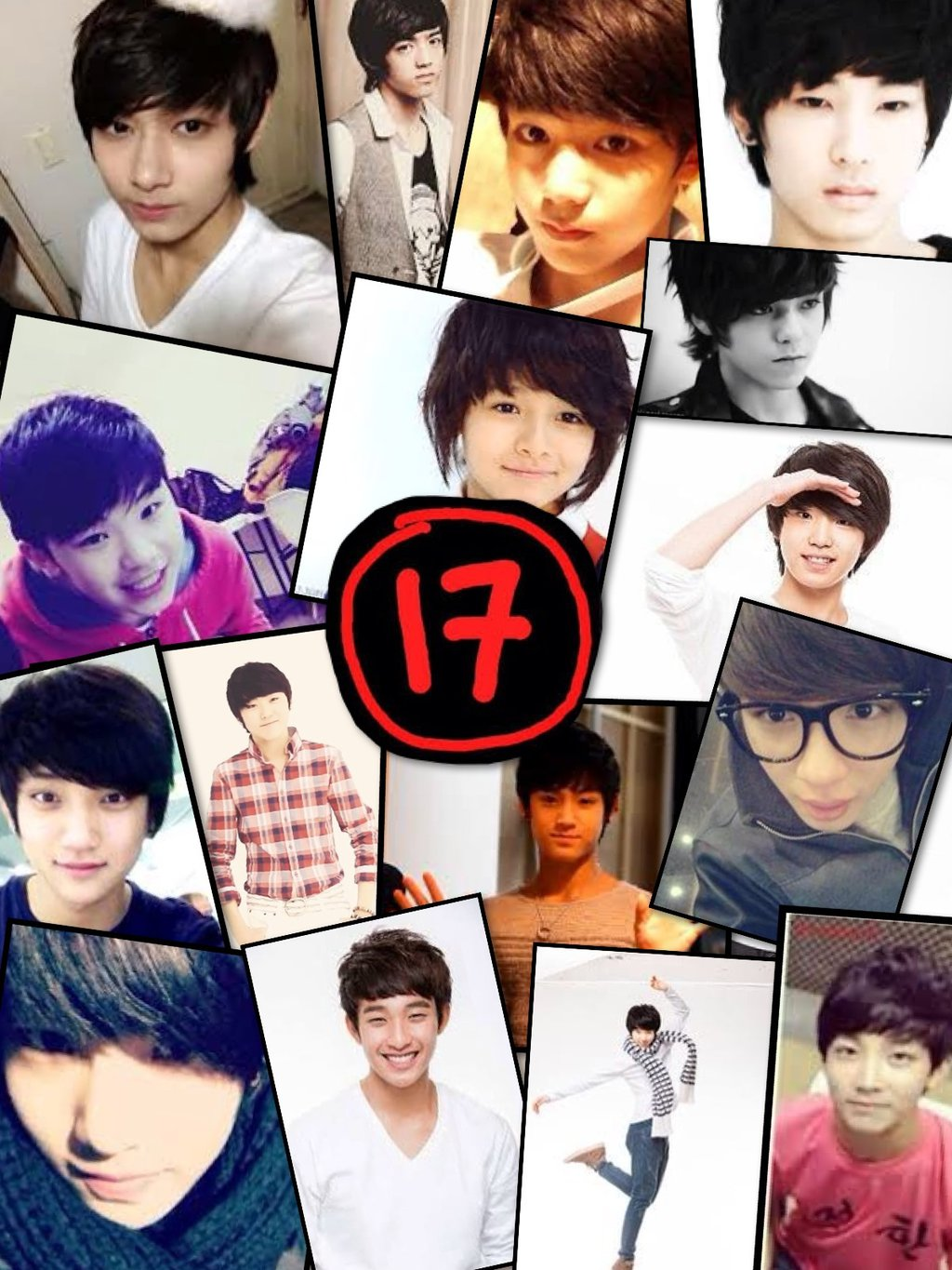Seventeen K Pop Collage by asian fusion 1024x1365