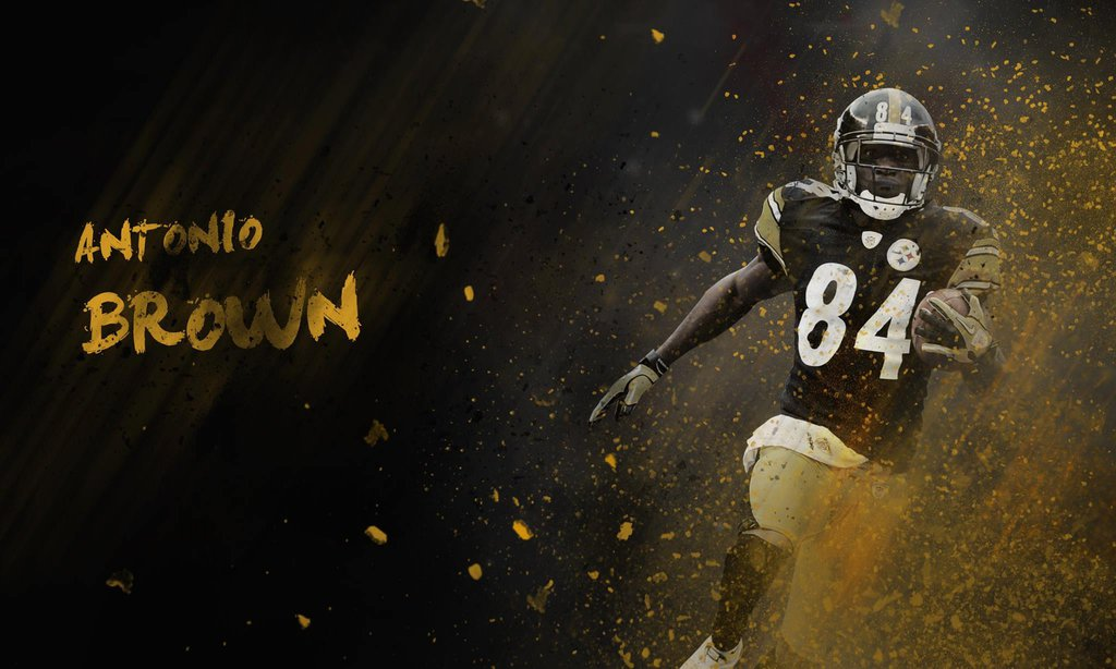 Wallpaper Antonio Brown by HazZbroGaminG 1024x614