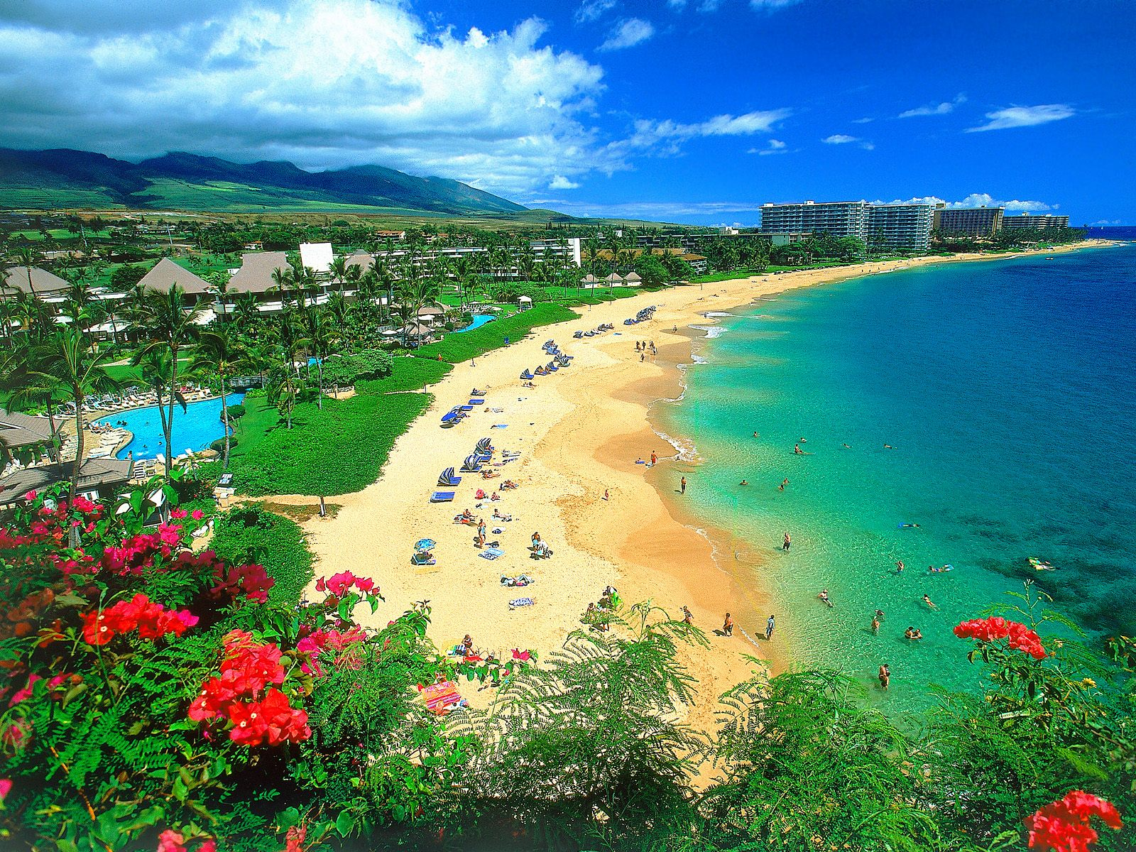 Kaanapali Beach Maui Hawaii wallpaper on We Heart It 1600x1200