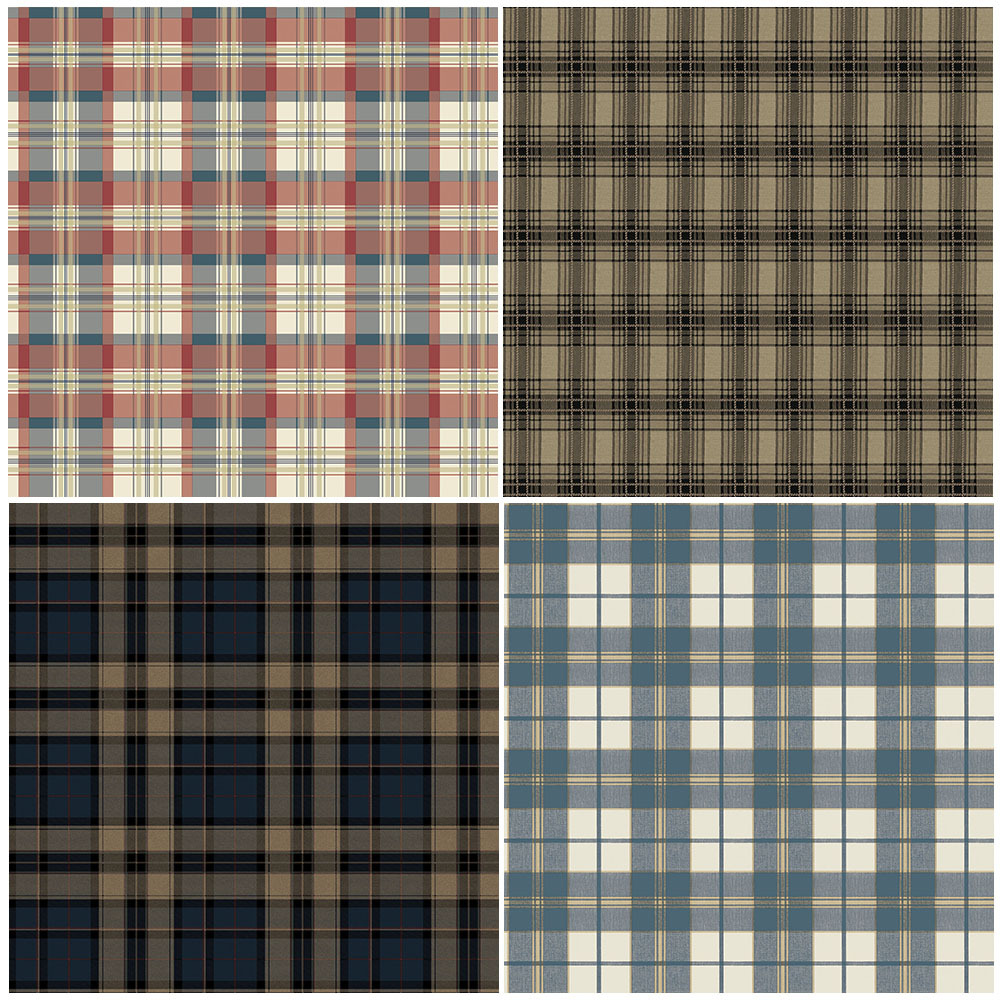 Wallpaper Living room Bedroom Home Wall DecorationBlue Tartan Wall 1000x1000