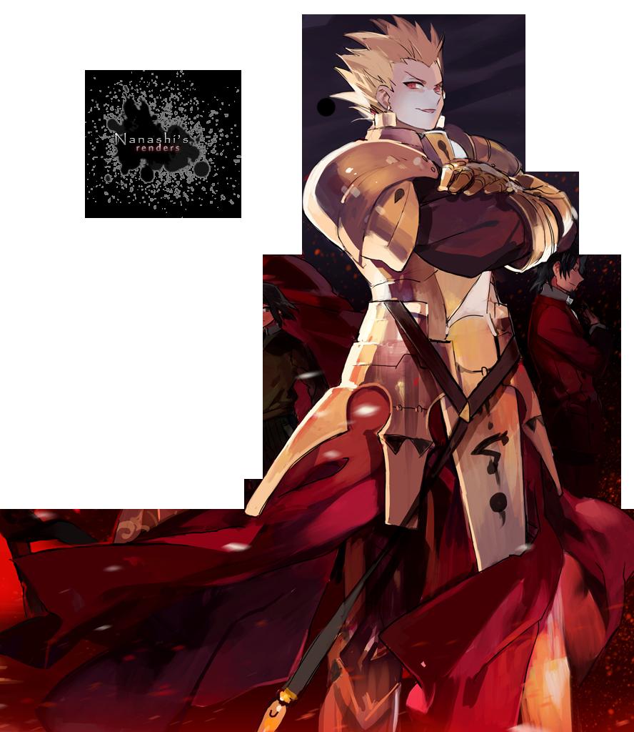 FateZero   Gilgamesh Render by NanashisWorks 888x1024