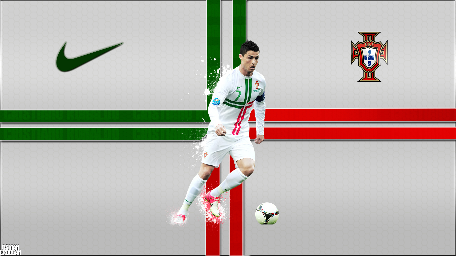 Cristiano Ronaldo Portugal Wallpaper by OsmanErdogan on 1920x1080