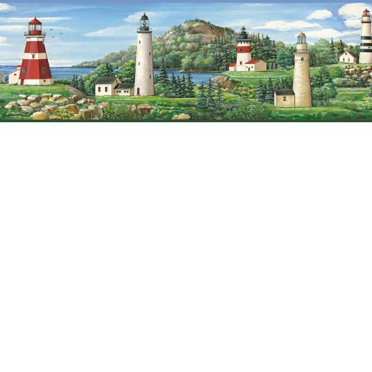 comborders by chesapeake lake lighthouse wallpaper border bbc46081b 736x736