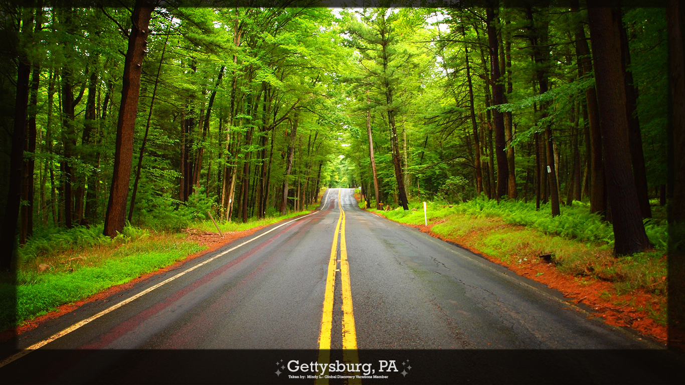 this photo makes you want to travel the open road in Gettysburg PA 1366x768