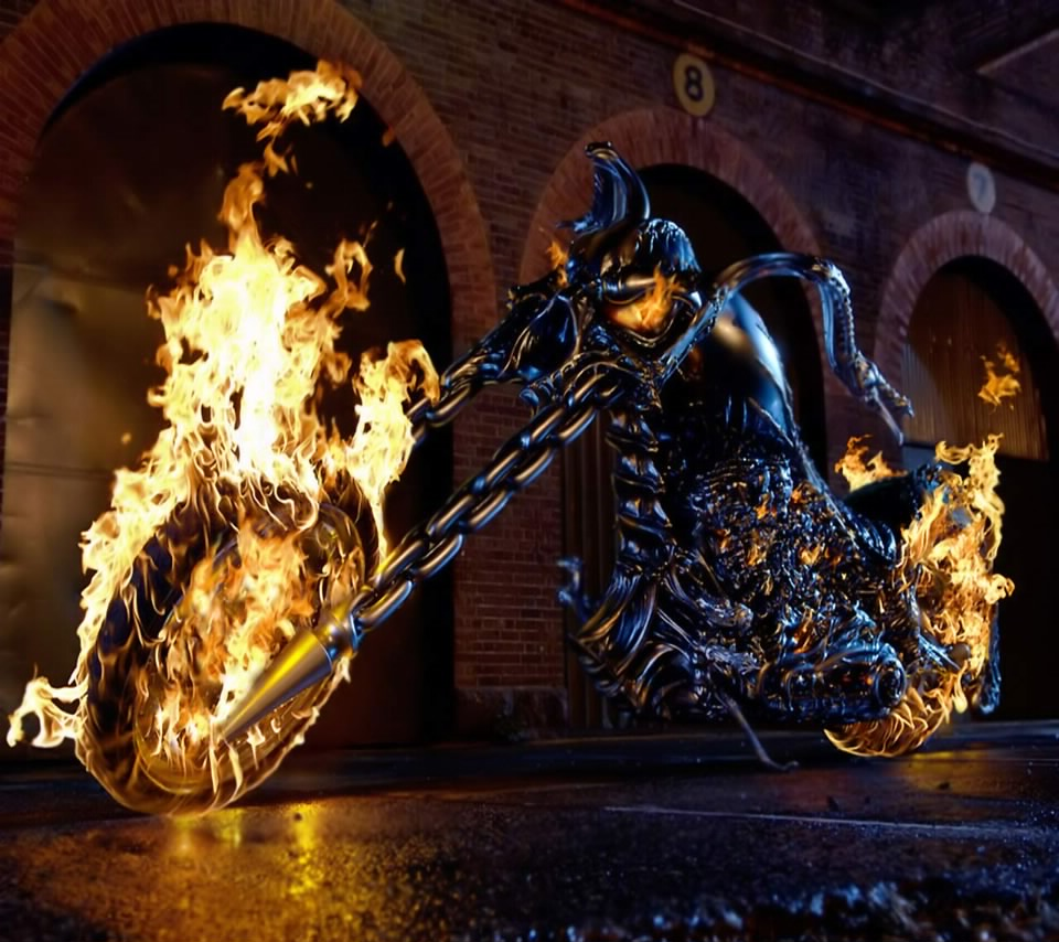 Ghost Rider Bike PC WALLPAPER android wallpapers 960x854