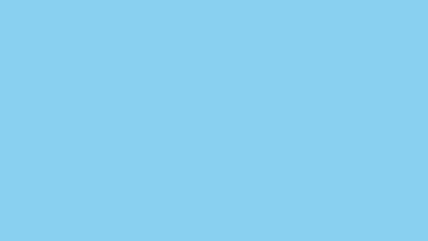 1360x768 resolution Baby Blue solid color background view and 1360x768