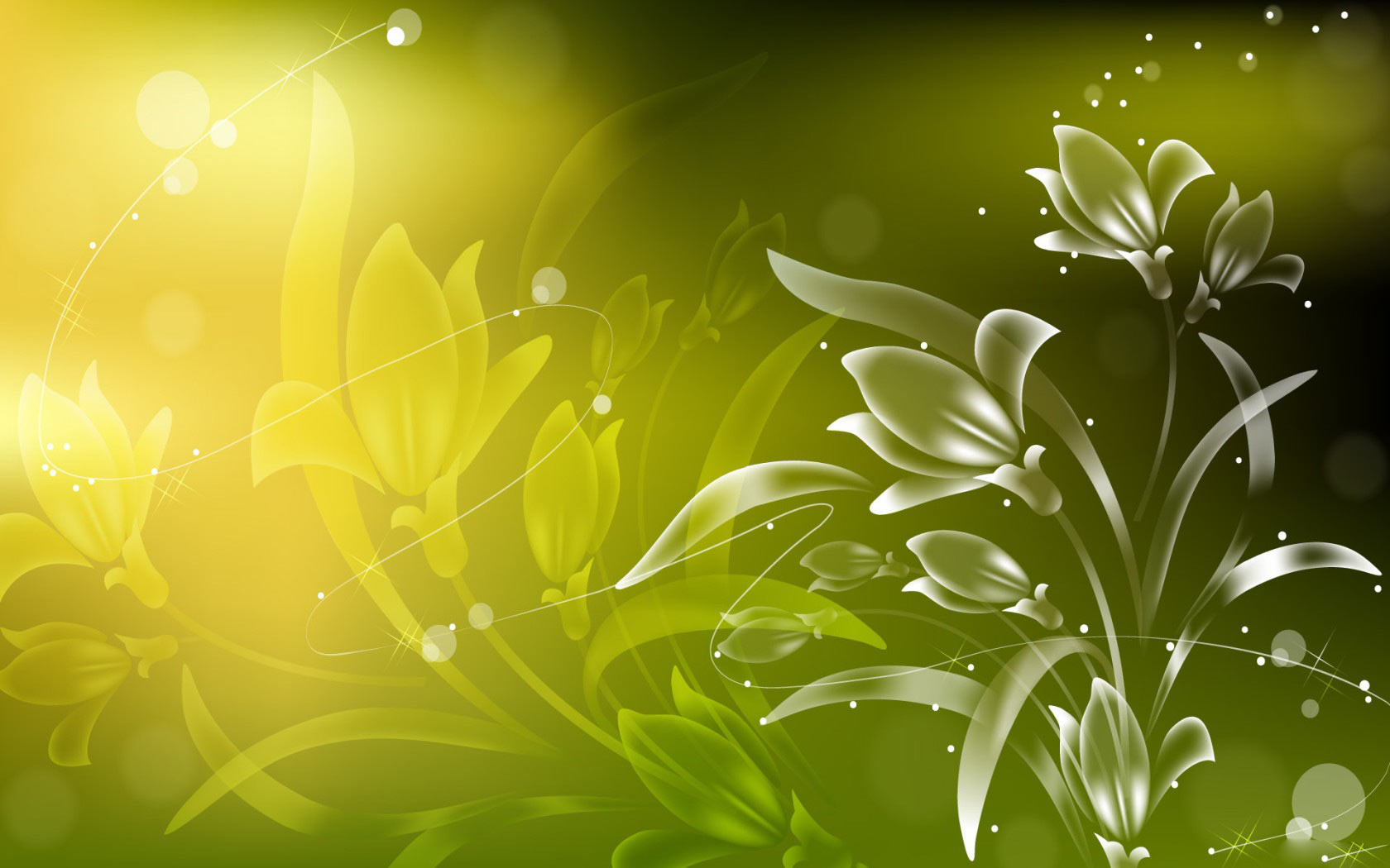 Light Green Abstract Background Vector Images 1680x1050
