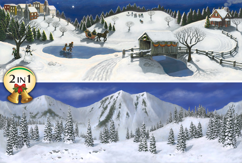 Village Backgrounds   Bring Your Christmas Village Halloween Village 800x540