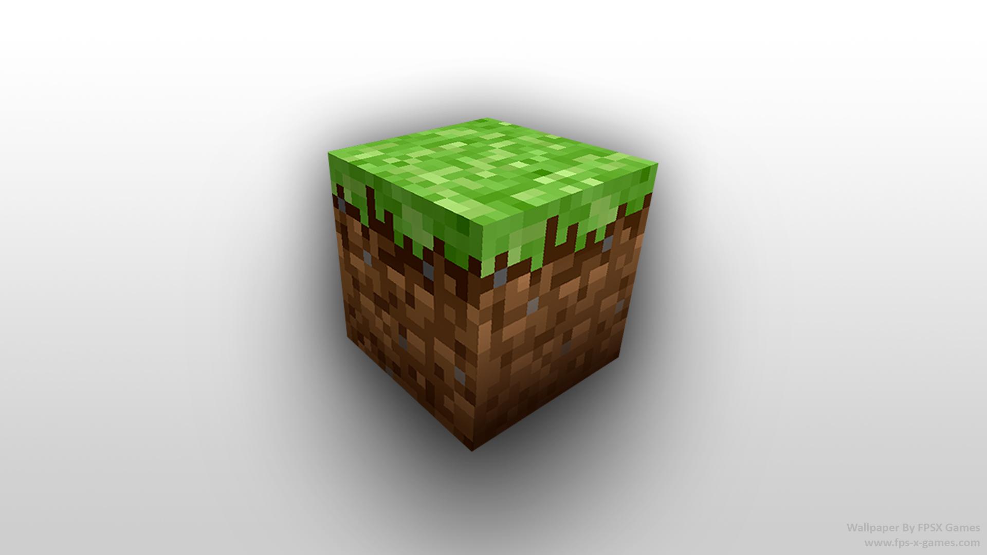 Minecraft Dirt Block desktop wallpaper by fpsxgames 1920x1080