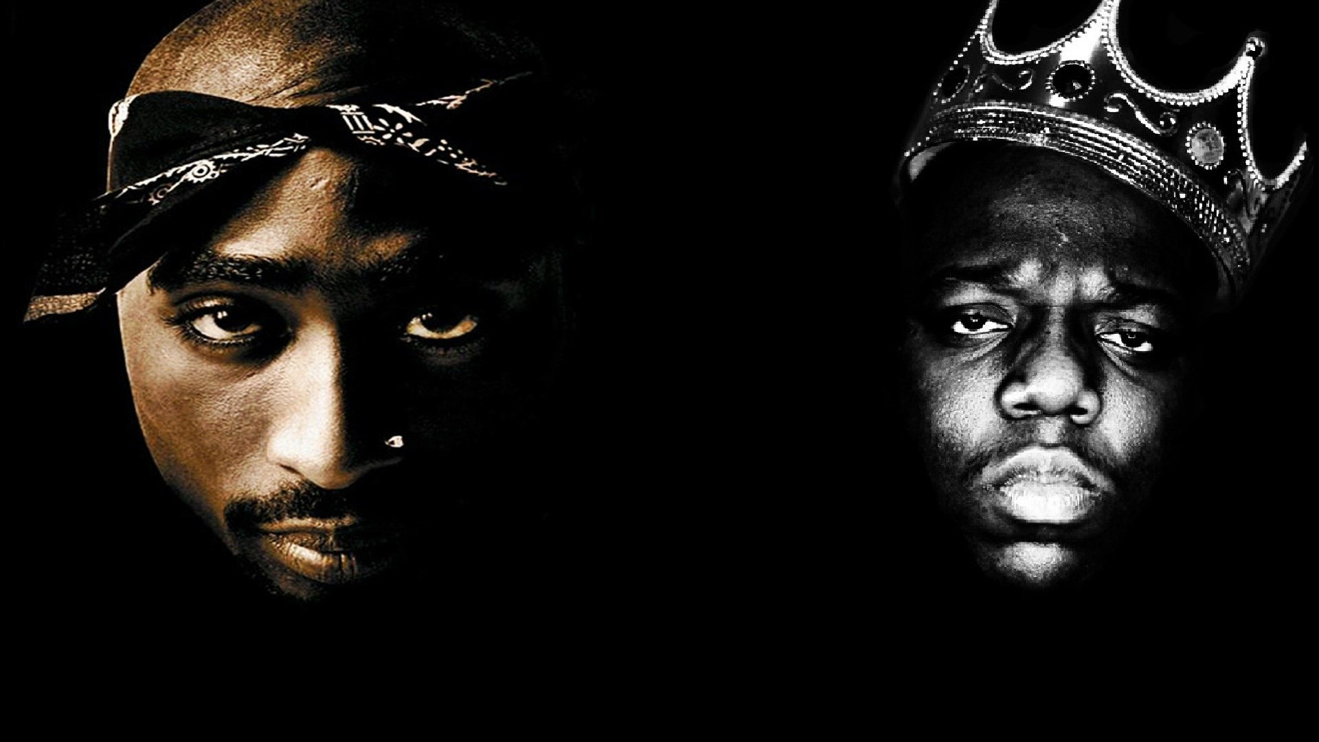 TUPAC BIGGIE SMALLS gangsta rapper rap hip hop f wallpaper 1920x1080 1920x1080