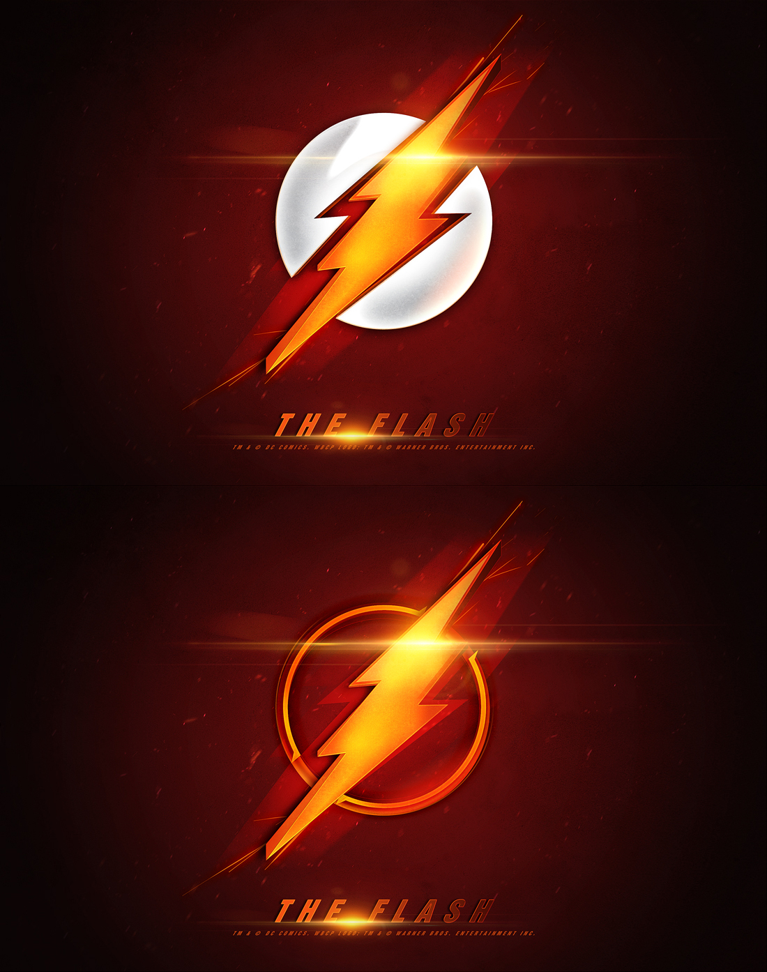 The Flash Logo   Movie Poster by oroster 1100x1394