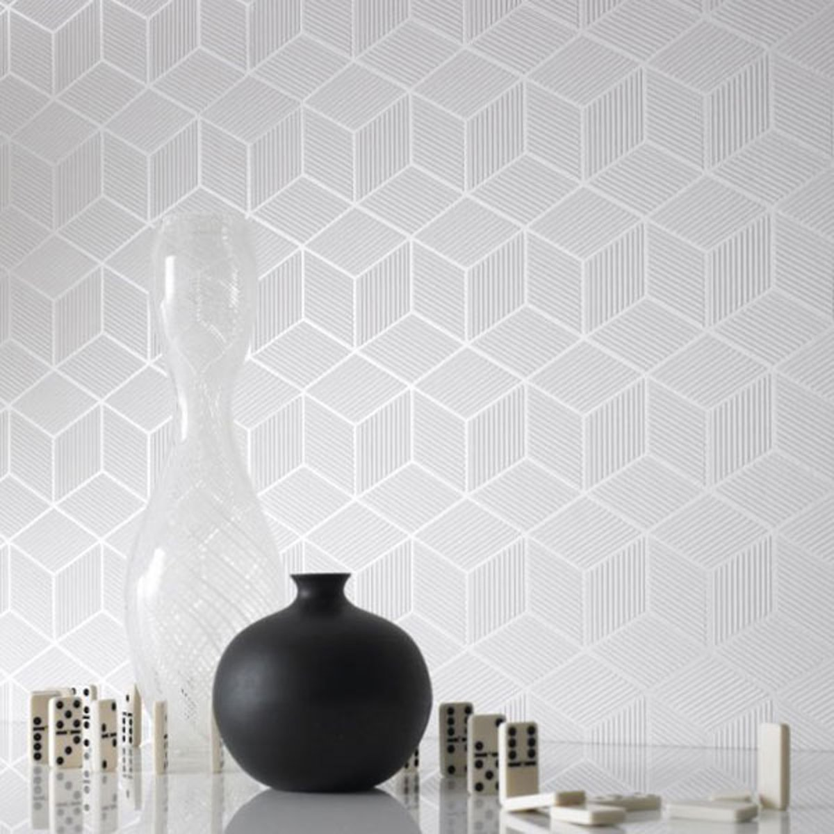Exclusive Inspiring Black and White Wallpaper Designs with 3D Layouts 1200x1200