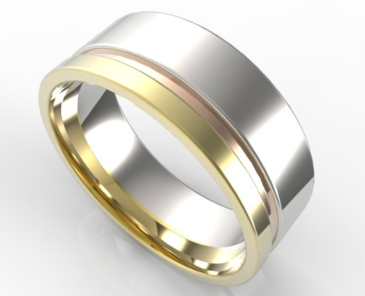 Yellow Gold Wedding Bands For Men 19724 theweddingplansnet 525x425