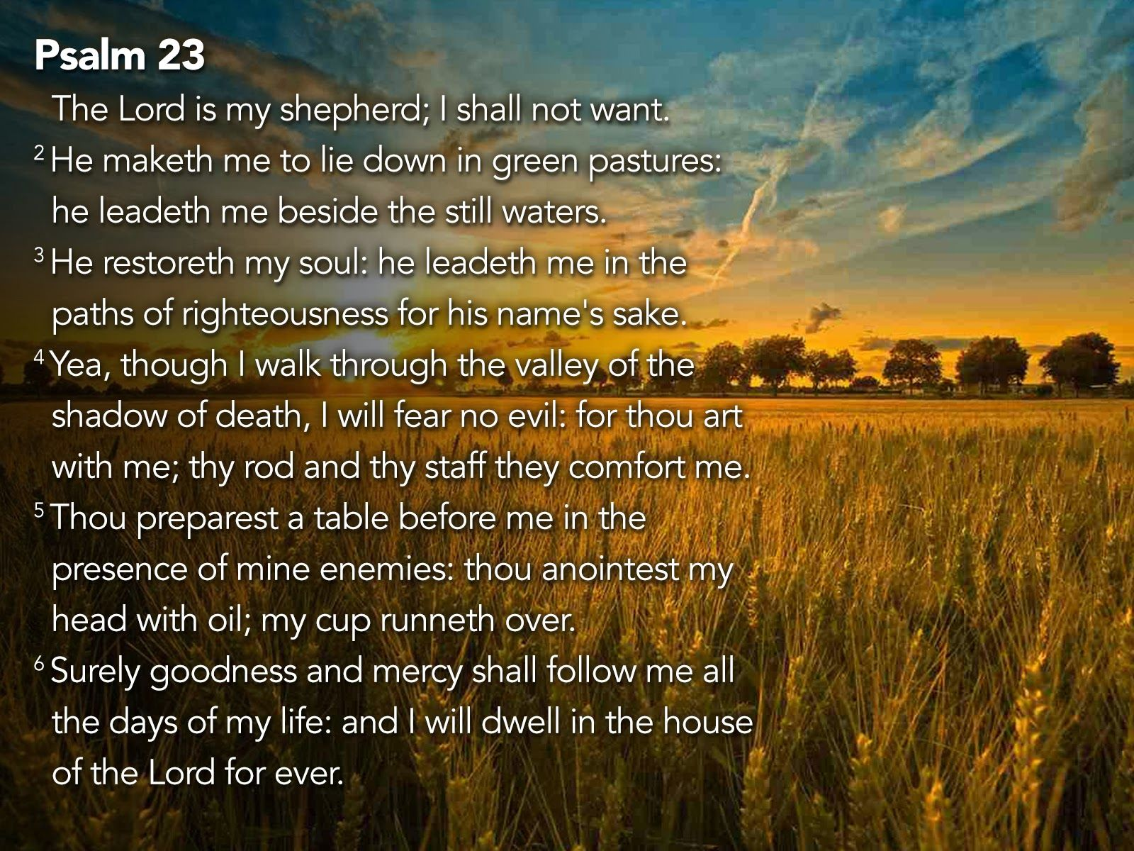 Psalm 23 Wallpapers 1600x1200